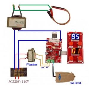 Точечная Сварка для Аккумуляторов (Контроллер NY-D01 V2.01)