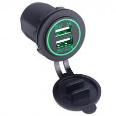 Встраиваемая автозарядка USB на 2.1А