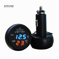 3 в 1 Вольтметр, термометр, USB-зарядное устройство в прикуриватель автомобиля